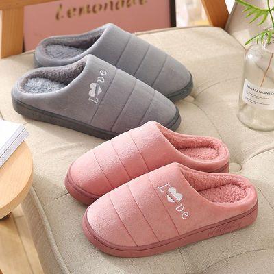 棉拖鞋女居家冬季室内2019新款月子鞋包跟家居防滑保暖毛绒拖鞋