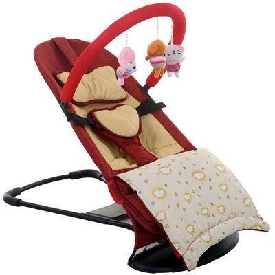 婴儿哄娃哄宝神器摇摇椅哄睡摇篮宝宝安抚椅平衡躺椅可折叠易拆洗