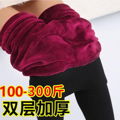 加绒加厚打底裤女加肥加大码200斤胖MM高腰显瘦弹力外穿保暖棉裤