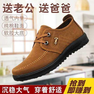 老北京布鞋春季中老年男鞋爸爸中年父亲男士休闲防滑软底老人单鞋