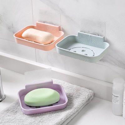 卫生间置物架壁挂浴室免打孔收纳架子厕所吸壁式吸盘卫浴架三角架