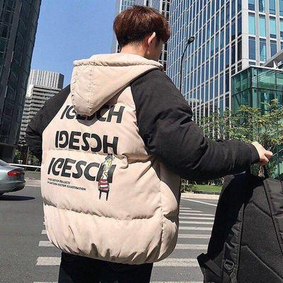 潮牌冬季外套男情侣学生韩版宽松棉衣男士嘻哈棉服面包服棉袄男装