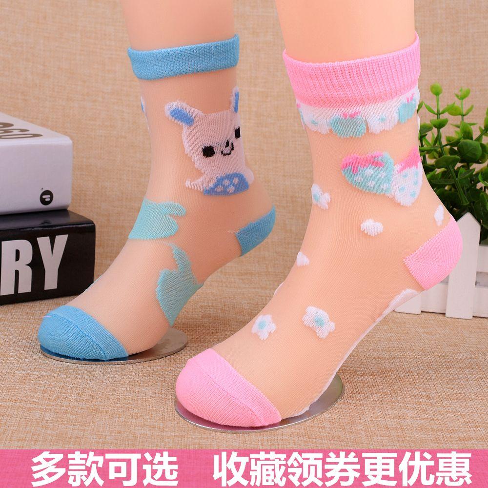 12双春夏儿童袜子女童袜男童棉袜小孩宝宝婴儿学生网眼袜子冰丝薄
