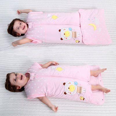 纯棉婴儿睡袋春秋冬季加厚新生儿抱被宝宝薄款夹棉大儿童防踢被子【3月8日发完】