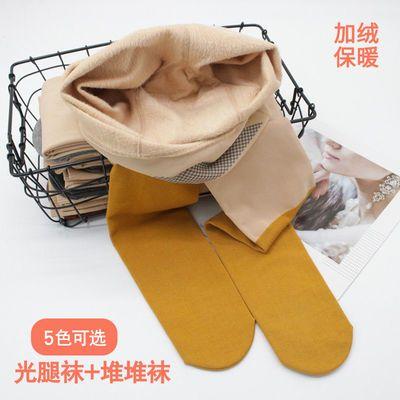 堆堆袜光腿神器 拼接打底裤袜假中筒袜 一体加绒加厚女秋冬显瘦