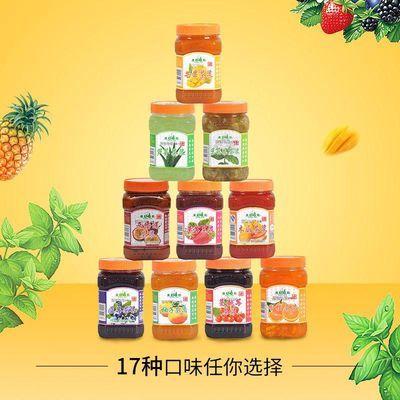 广村蜂蜜柚子茶桂圆红枣酱百香果柠檬浓浆果肉果粒奶茶水果酱糖