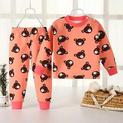 男童秋冬装儿童保暖内衣套装加绒加厚长袖女宝宝睡衣秋衣秋裤婴儿
