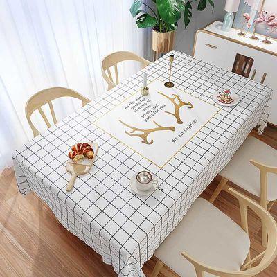 婚庆桌布卡通少女心桌布ins日系书法桌桌布布艺新中式桌布布艺棉