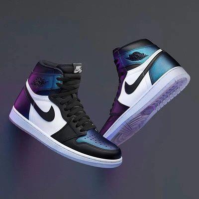 AJ乔1篮球运动鞋流行休闲闪电男女同款情侣鞋高帮板鞋学生运动鞋
