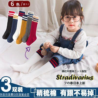 儿童长筒袜女童袜子男童中筒大童足球潮袜纯棉宝宝堆堆袜夏季薄款