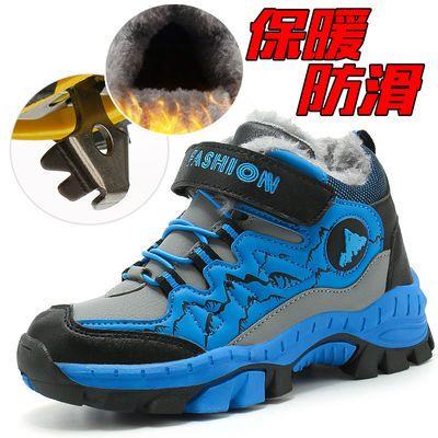 男童棉鞋冬季新款中大童登山鞋加绒保暖防滑大棉运动鞋儿童二棉鞋