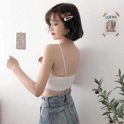 特价美背内衣女无钢圈吊带小背心学生少女裹胸带胸垫聚拢打底抹胸