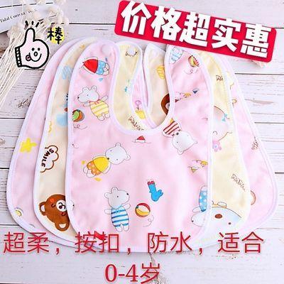 婴儿纯棉圆形围嘴加厚强吸水防水耐脏围嘴口水巾360度旋转口水巾