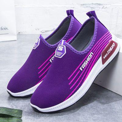老北京布鞋一脚蹬休闲透气女单鞋子跑步鞋懒人套脚2019新款