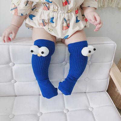 男女童袜儿童袜子卡通地板袜过膝盖堆堆袜春秋款长筒袜可爱中筒袜