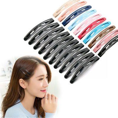 韩版发夹黑色一字夹头饰顶夹发饰品成人刘海发卡子头发夹子小边夹