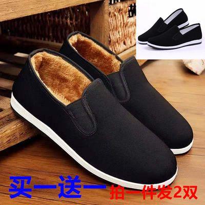 冬季老北京布鞋女棉鞋加绒保暖靴雪地靴软底防滑鞋保暖鞋妈妈鞋女