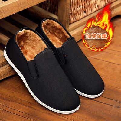 冬季老北京布鞋女棉鞋平底加绒加厚保暖老人棉靴中老年人奶奶棉鞋