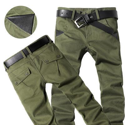秋季男士休闲裤宽松直筒新款工装裤军装裤耐磨军绿色工作裤子男潮