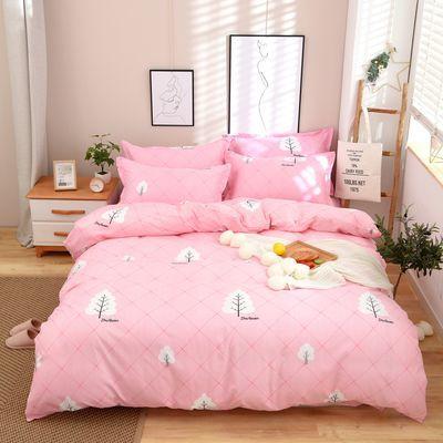 【特价清仓】亲肤水洗棉四件套床上用品双人1.8m被套2米床单4件套【2月29日发完】