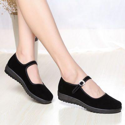 新款老北京布鞋牛筋底女士棉鞋加绒加厚保暖防水棉靴高帮雪地鞋