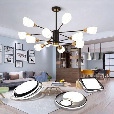 客厅吊灯简约现代大气家用餐厅灯创意个性2019款北欧风格卧室灯具