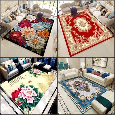 地毯欧式印花加绒中式地毯客厅地毯卧室茶几地毯门垫爬爬垫新款