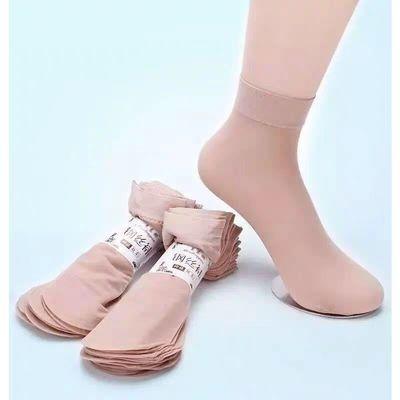 天鹅绒包芯丝短袜女春秋薄款耐磨钢丝黑色肉色短丝袜女防臭脚袜子