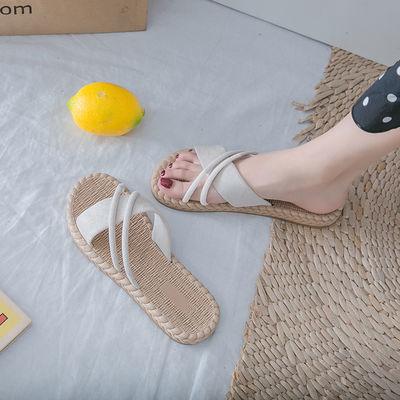 简易新款夏季凉拖鞋女外穿时尚韩版百搭网红平底ins潮女式可湿水
