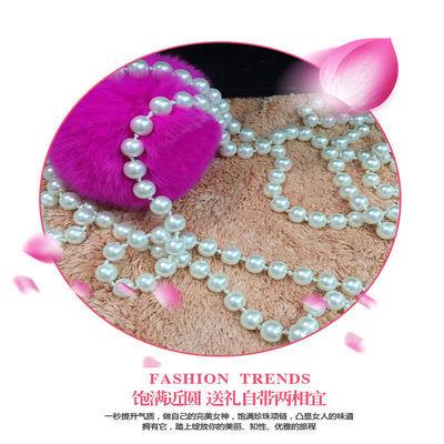 韩国时尚四季项链多层百搭加长款毛衣链多色打结多色珍珠项链女