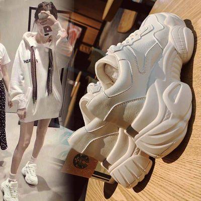 老爹鞋女2019秋季新款跑步韩版学生小白鞋女透气休闲松糕运动鞋潮主图
