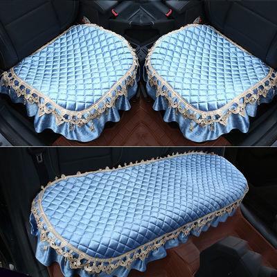 四季通用汽车坐垫单片冬季毛绒无靠背棉垫防滑保暖三件套座垫免绑