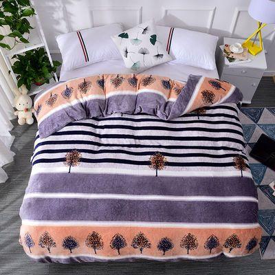 面水晶绒被套单件冬季加厚保暖珊瑚绒法兰绒被罩77人200230