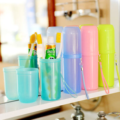 便捷式旅行洗漱杯旅行套装洗漱包收纳毛巾牙膏牙刷盒漱口杯