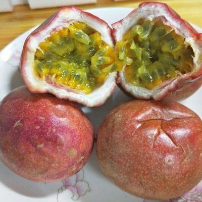 广西百香果带箱10斤皱皮果花皮果大果中小果奶茶果汁果酱5水果