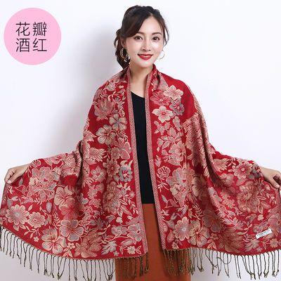 2018韩版女士学生两用大围巾披肩外套秋冬款中长款厚棉麻民族风