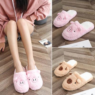 新款男童棉拖鞋秋冬季小孩童女童可爱防滑儿童毛毛鞋室内保暖