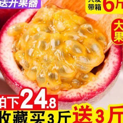 广西百香果5斤特级大果一级红果新鲜紫香满天星鸡蛋果批发 白香果