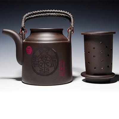 清仓宜兴紫砂提梁壶720毫升大茶壶紫砂壶大容量内胆过滤泡茶具