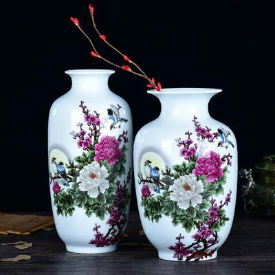 花瓶小清新时尚纯手工捏花陶瓷小花器水培花瓶容器摆件客厅插花