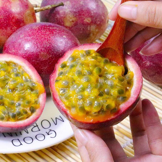 广西百香果水果新鲜鸡蛋果酱原浆净重1.5斤装大红果12个当季整箱_2