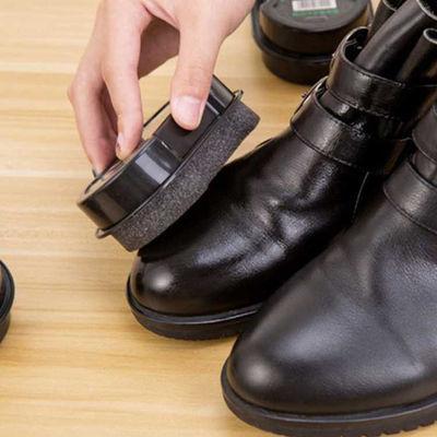 擦皮鞋神器擦鞋海绵鞋刷鞋清洁多功能鞋油无色保养油刷子软毛布的