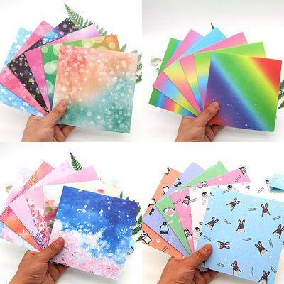 15厘米正方形儿童手工折纸千纸鹤折纸叠纸彩色纸卡纸diy折纸材料主图