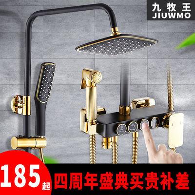 九牧王花洒套装全铜家用卫浴花晒头喷头浴室淋浴卫生间恒温淋浴器