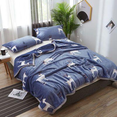 【包边加厚毛毯】珊瑚绒空调毯子双人法兰绒床单冬季盖毯毯子睡毯