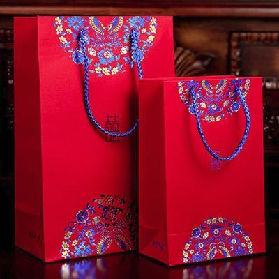 创意回礼袋回礼盒婚庆结婚礼品袋喜糖袋子手提袋大号纸袋喜糖盒