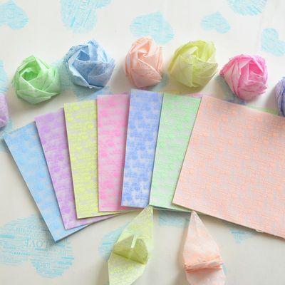 7cm9cm正方形夜光千纸鹤玫瑰爱心love正方形折纸儿童手工材料DIY主图