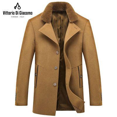 VDG男士商务休闲男装上衣外套毛呢大衣