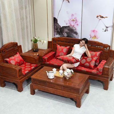 红木沙发坐垫古典坐垫实木家具罗汉床屁股垫子加厚海绵防滑可定做