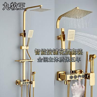 九牧王暗装淋浴器花洒套装全铜主体按键家用增压喷头全铜卫浴龙头